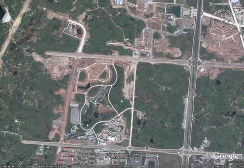 重庆大学城卫星地图